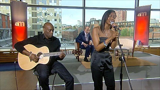 Beverley Knight performing on The Andrew Marr Show