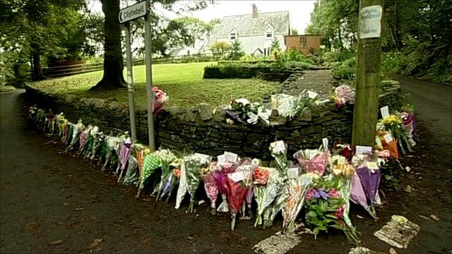 Flowers left for lost miners