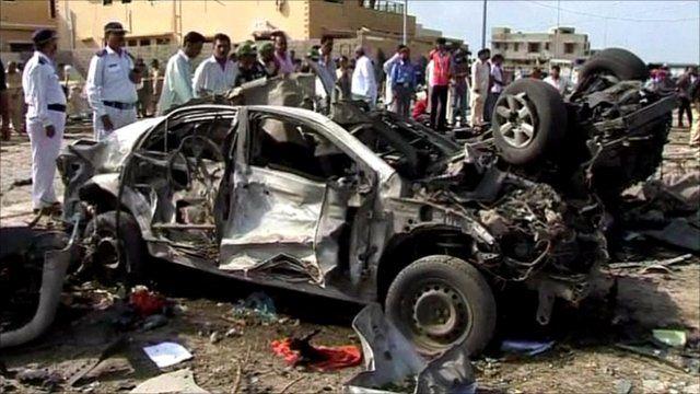 Blast site in Karachi