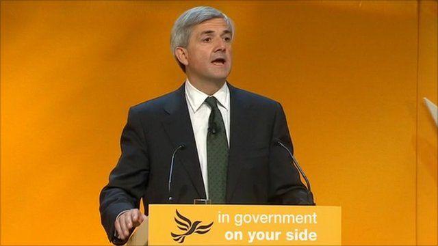 Energy Secretary Chris Huhne
