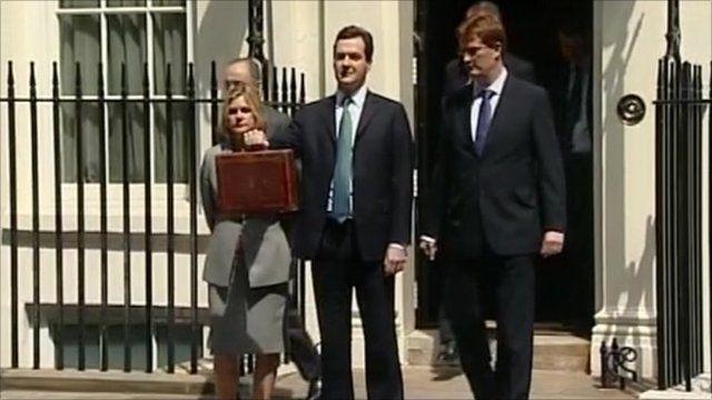 Chancellor outside No 11