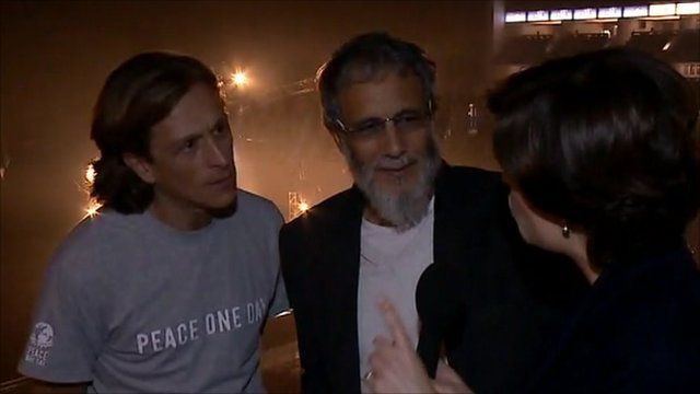 Jeremy Gilley, Yusuf Islam and Jane Hill