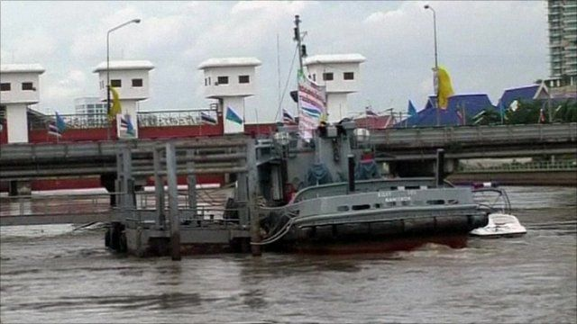 Thai navy vessel on the water