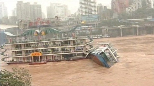 Boats collide in China