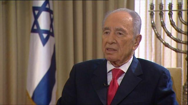 Israel's President Shimon Peres