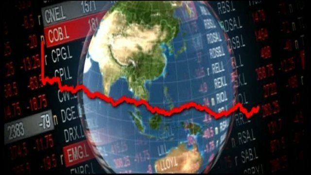 Global economy graphic
