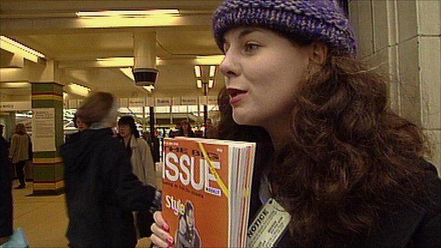 The Big Issue seller