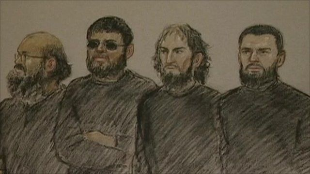 Four of the six terror suspects