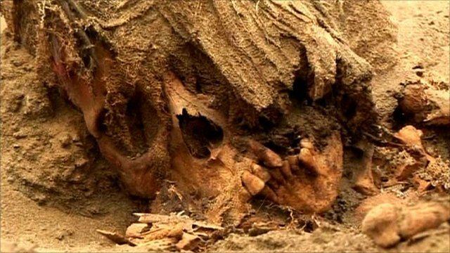 Pre-Incan human remain