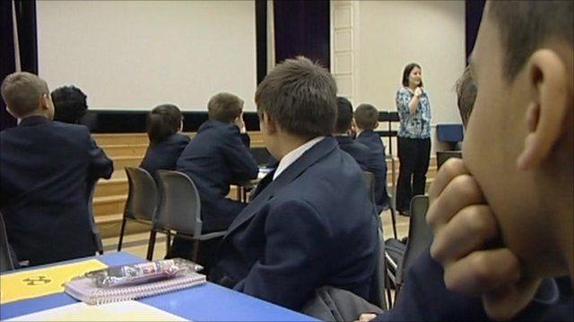 A teacher and her class