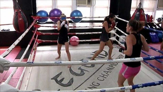 Hong Kong women boxers