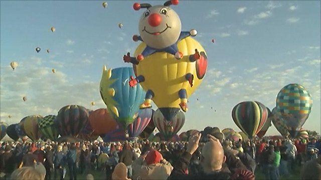 Balloons at the Albuquerque festival