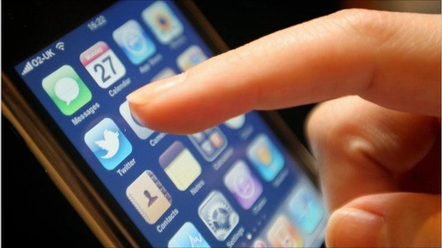 An iPhone's touchscreen being used