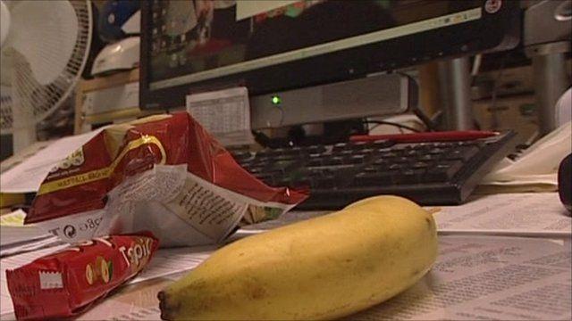 Food on desk