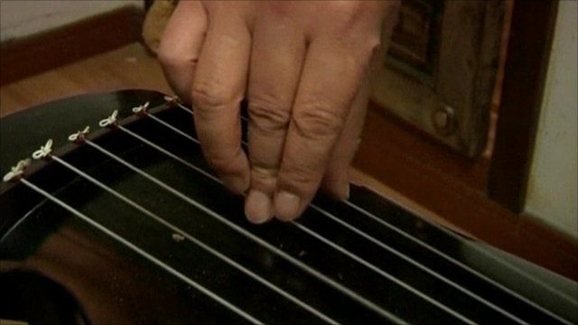 The guqin, the Chinese seven-string zither