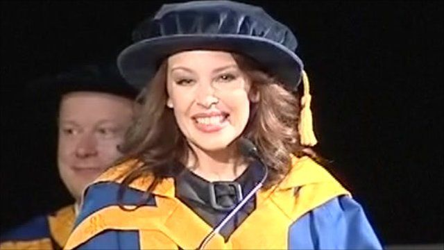 Kylie Minogue accepts her honorary degree