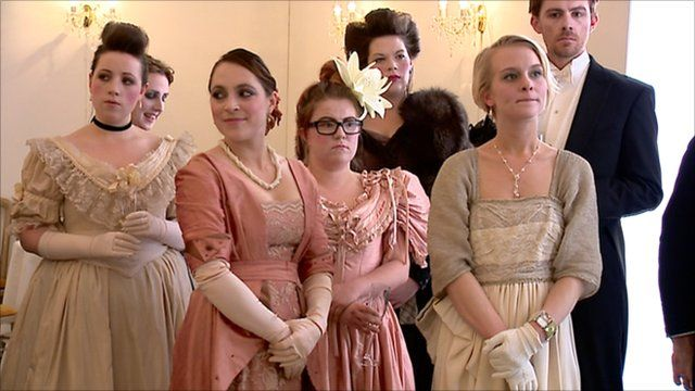 People in Victorian dress for the Salon Project