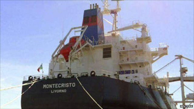 The 56,000-tonne bulk carrier Montecristo