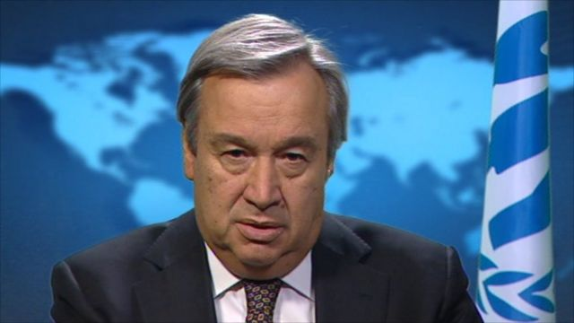 United Nations High Commissioner for Refugees Antonio Guterres