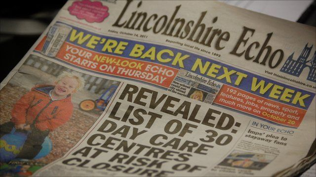 The final daily edition of the Lincolnshire Echo