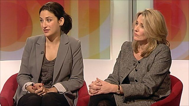 Luciana Berger and Christine McGourty