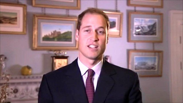 Prince William makes his You Tube appeal