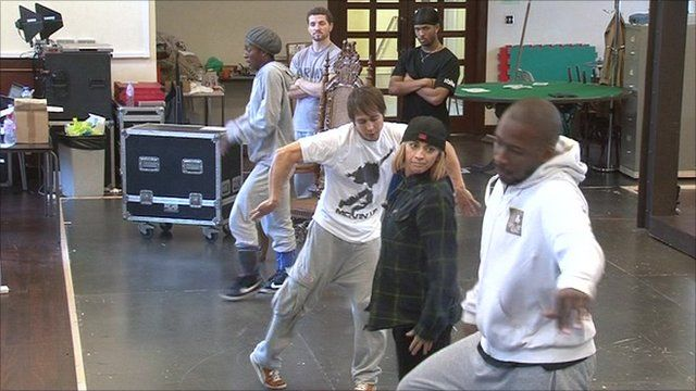 ZooNation dancers in rehearsal