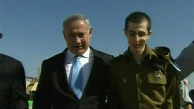 Benjamin Netanyahu and Gilad Shalit