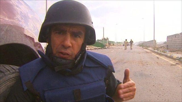Wyre Davies in Sirte