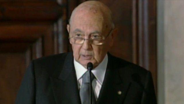 Italian President, Giorgio Napolitano