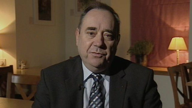 Scotland's First Minister and leader of the SNP Alex Salmond