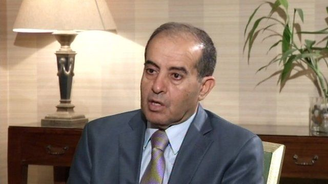 The head of Libya's National Transitional Council, Mahmoud Jabril
