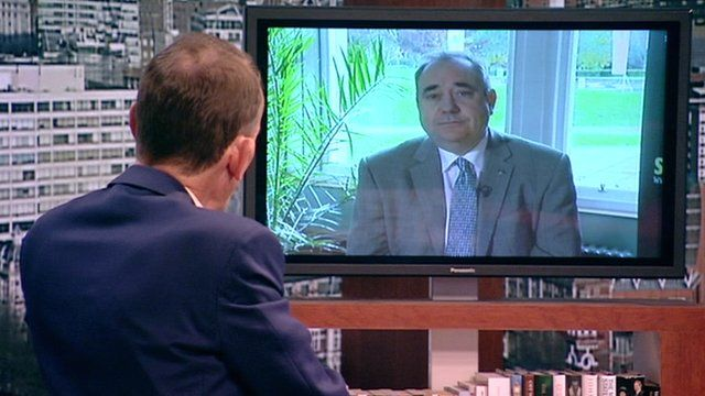 Alex Salmond on The Andrew Marr Show