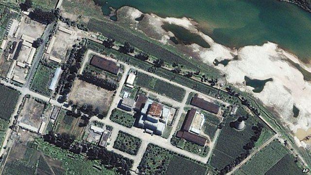 Satellite image of North Korea's Yongbyon nuclear reactor