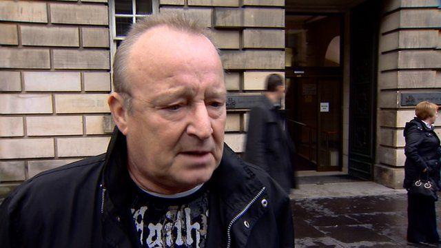 Derek Alexander speaks outside the High Court in Edinburgh