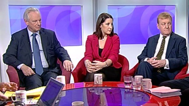 Francis Maude, Rachel Reeves and Charles Kennedy