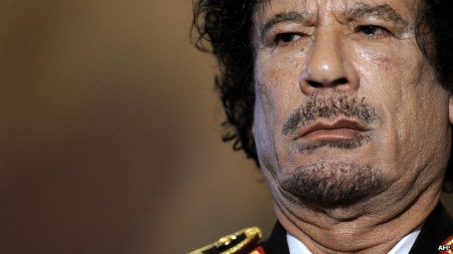 Col Gaddafi, at a press conference in Rome, 2009