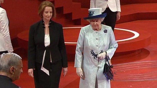 Julia Gillard and the Queen
