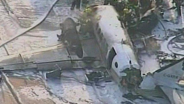 Plane crash in Vancouver, Canada
