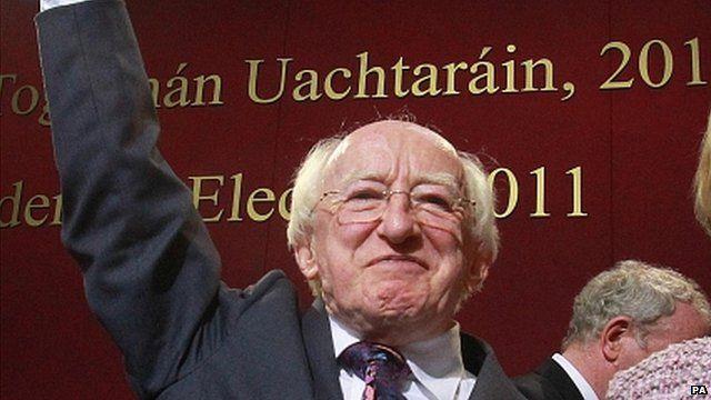Irish president-elect Michael D Higgins