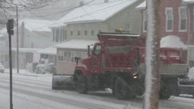 Snow plough in Pennsylvania