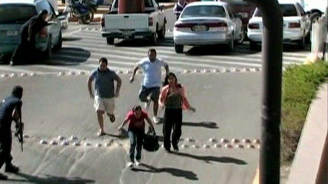 Shoppers flee