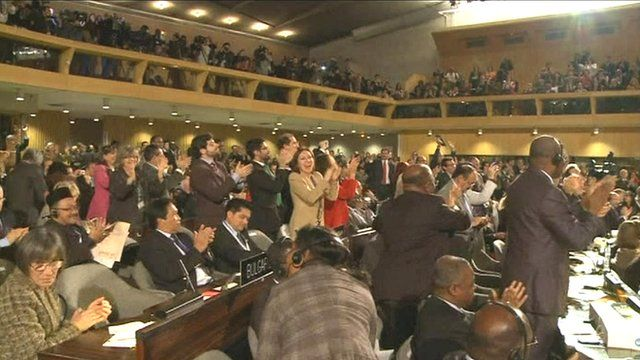 Some members gave the announcement a standing ovation