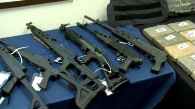 Drugs and guns in police custody