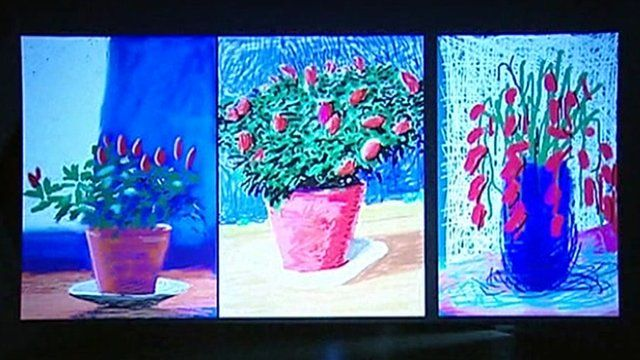 Flower drawings by iPad