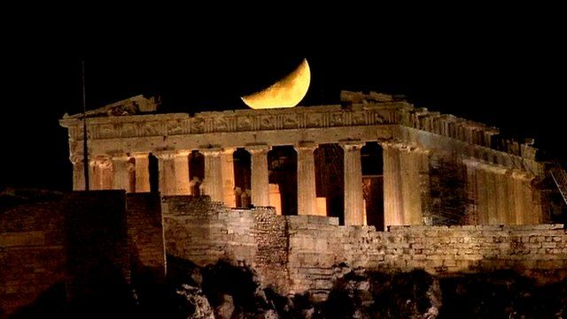 Moon over Athens