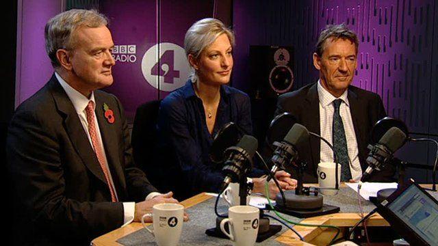 Willem Buiter (l), Katinka Barysch (c) and Jim O'Neill (r)