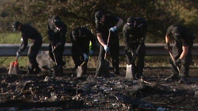 Police investigating crash scene