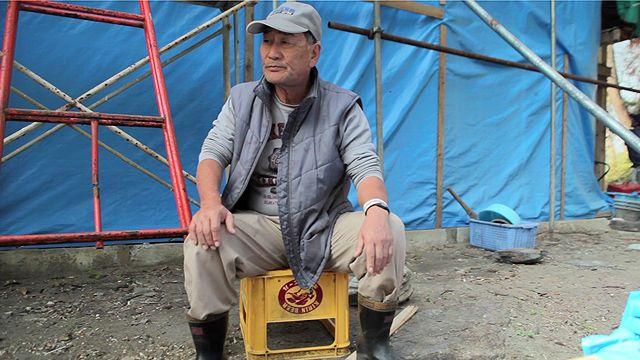 Mr Zenichi Kawasaki, whose home was devastated in the March 2011 tsunami