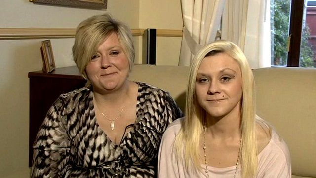 Katie Hill (right) and her mother Juliet